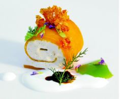 This masterpiece is Ferran Adria's Vanilla Mango Roll.