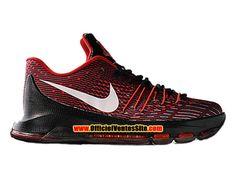 Nike KD 8/VIII Chaussures de Basketball Pas Cher Pour Homme Noir/Rouge  749375