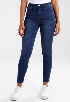 "Morgan. Slim fit jeans - jean brut. Fit:Slim. Outer fabric material:87% cotton, 13% spandex. Our model's height:Our model is 69.0 "" tall and is wearing size 10. Care instructions:do not tumble dry,machine wash at 30°C,Machine wash on..."