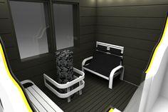 Wheelchair accessible sauna, esteetön sauna
