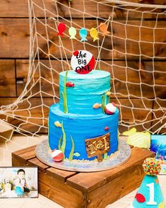 🐟The Big One🐟 . Superbly behind on posting, but super excited to show you the rest of this dessert table! ❤ These beautiful photos are by… Boys First Birthday Party Ideas, Birthday Themes For Boys, Baby Boy First Birthday, Boy Birthday Parties, Birthday Photos, 2nd Birthday, Fish Cake Birthday, Twins 1st Birthdays, Fly Fishing