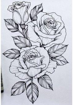 Should add this piece to my skull n rose tattoo .-Sollte dieses Stück zu meinem Schädel n Rose Tattoo hinzufügen … Tatowierung – flower tattoos designs This piece should go with my skull n rose tattoo add tattoo - Tattoo Design Drawings, Flower Tattoo Designs, Art Drawings, Tattoo Flowers, Rose Drawing Tattoo, Rose Drawings, Tattoo Roses, Daisies Tattoo, Rose Tattoo Stencil