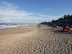 Sunny day at the beach in Hoi An, Vietnam