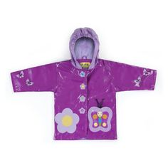 Irresistible and eye-catching, these stylish, upscale coats are the core of a Kidorable ensemble. Butterfly all-weather raincoat for your little girl. It is more than just a raincoat, it can be worn every day, all spring, summer and fall. Featuring an enc