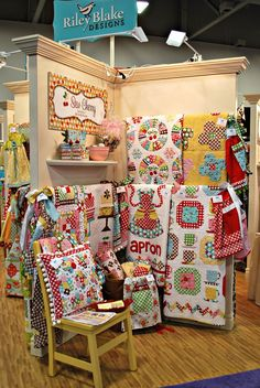 A glimpse of quilt market and one of my fav. fabric manufacturers - SO EXCITED for market in May!!!