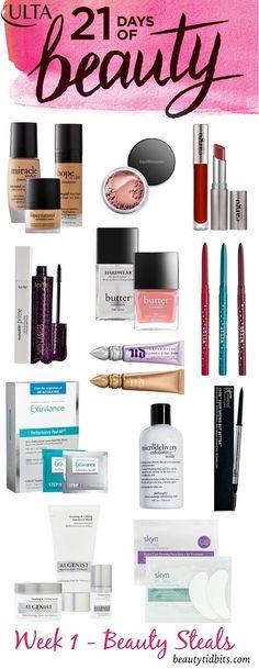 Ulta 21 Days of Beauty Spring 2015 - Week 1 beauty steals and deals