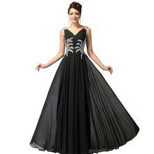 Robe De Soiree Longue longo preto / rosa / azul vestido GK sem encosto sem mangas das mulheres vestidos formais Abend Kleider CL7575(China (Mainland))