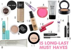 15 Long-Lasting Makeup Must Haves - Ya Gotta Have a Hobby- Help your makeup stay put for 12 hour days (and longer) with the help of these amazing beauty buys!