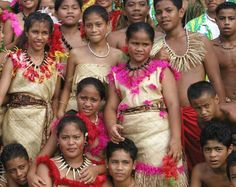 Samoan youth in traditional outfits.  NPS