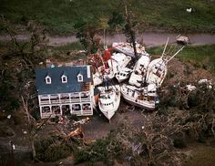 Devastation after Hurricane Hugo