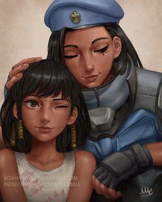 Fareeha and Ana Amari - Overwatch by Sciamano240.deviantart.com on @DeviantArt