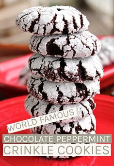 You won't believe these rich and fudgey Chocolate Crinkle Cookies are vegan! Made with peppermint extract and fresh peppermint candies for a chocolate/mint combination everyone will love. #vegan #chocolatecookies #vegancookes #christmascookies