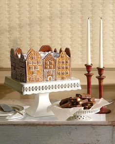 """A couple of years ago I hosted a Christmas party and we all made """"Gingerbread Apartments"""" instead of houses.  This was the photo that inspired them."""