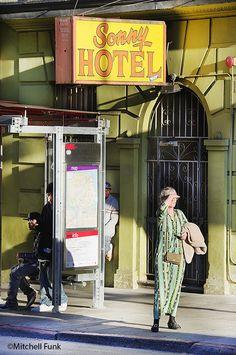 Sonny Hotel In Sunlight In TheTenderloin, San Francisco By Mitchell Funk  www.mitchellfunk.com