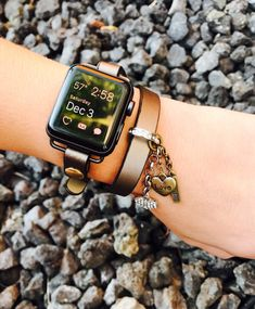Apple Watch Band, Gift for Her, Leather Apple Watch Band, iWatch Band, Wearable Technology, Wearable Tech, Apple Watch Accessories, iWatch by LaurelsLoop on Etsy https://www.etsy.com/listing/482968516/apple-watch-band-gift-for-her-leather