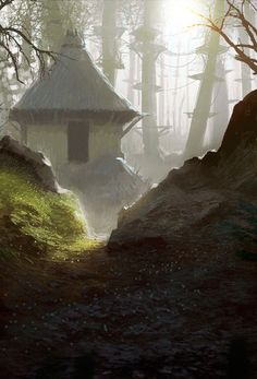 Fantasy bungalo tucked away in the woods. The Art Of Animation, Paul Chadeisson