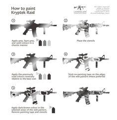 How to paint Kryptek : Raid