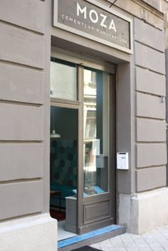 Budapest Gutenberg tér 2. MOZA cement tile Cement, Garage Doors, Mirror, Budapest, Outdoor Decor, Tile, Furniture, Home Decor, Mosaics