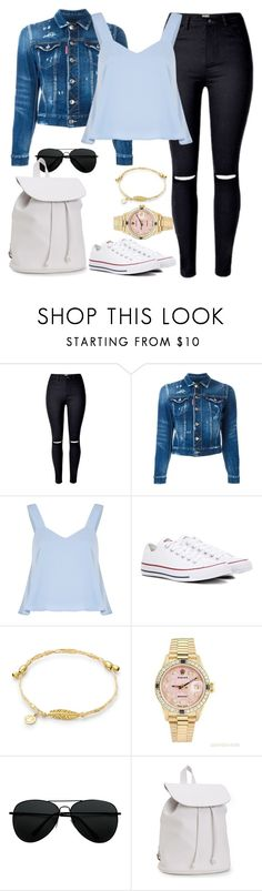 """Can you make me feel like I'm myself ?"" by cecilialukas ❤ liked on Polyvore featuring Dsquared2, Converse, Rolex and Aéropostale"