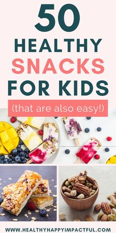 Recipes For School 50 healthy snacks for kids! We struggle with healthy snacks for school, but you can make find store bought options that are great for your family. No recipes required for most! Healthy School Snacks, Healthy Toddler Snacks, Healthy Eating For Kids, Easy Snacks, School Snacks For Kids, School Kids, Clean Eating Recipes, Easy Healthy Recipes, Clean Eating Snacks