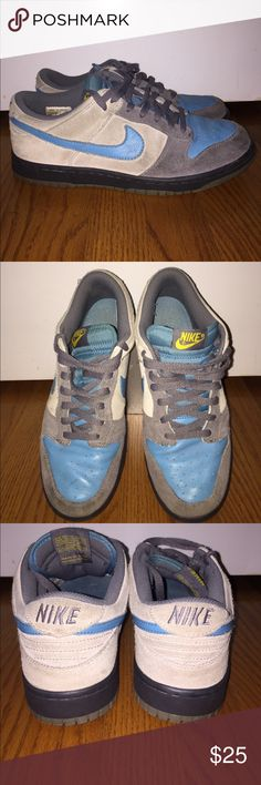 Nike Dunk Low CL Used. The Nike Dunk made its debut in 1985 as a technical basketball sneaker. Designed with multiple panels for support and a low profile to enhance movement on the court, the Nike Dunk was an instant hit. Plus, Nike added to their popularity by producing the Dunk in specific colorways designed to match college uniforms. After a period of cease production, the Nike Dunk returned in 1998 and is still very popular today. Nike Shoes Sneakers