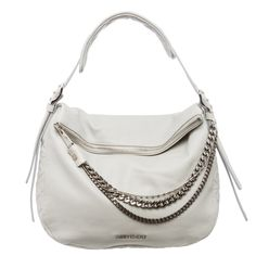 f9094626c54 Hobo bags are hot this season! The Jimmy Choo Biker Chain Pearl Boho Grey Leather  Hobo Bag is a top 10 member favorite on Tradesy.