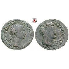 Römische Provinzialprägungen, Seleukis und Pieria, Laodikeia ad mare, Traianus, Bronze 202-204, ss: Seleukis und Pieria, Laodikeia… #coins