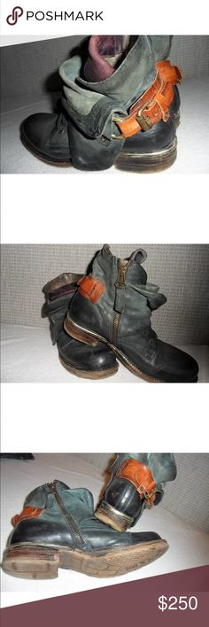 AS98 Air steps size 38 Combat moto boot AS98 Shoes Combat & Moto Boots