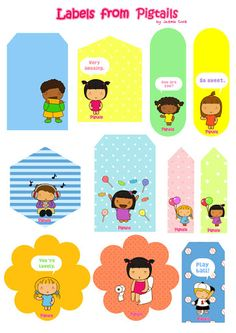 FREE printable marker labels- The Pigtails