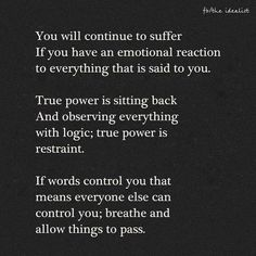 Breathe and allow things to pass