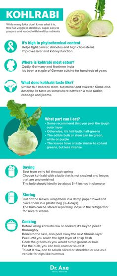Guide to kohlrabi - Dr. Axe http://www.draxe.com #health #holistic #natural #detox