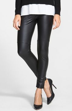 Free shipping and returns on Lyssé Faux Leather Leggings at Nordstrom.com. Above-the-knee seams give an understated moto vibe to four-way-stretch leggings in neutrally hued faux leather.