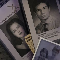 Mulder + Scully newspaper articles