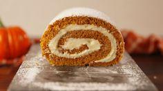 Pumpkin Cheesecake Roll  - Delish.com