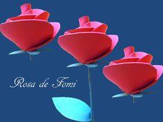 Paso a paso para hacer una #rosa de #fomi con los #niños. #manualidades http://abt.cm/1OFEPJa