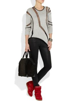 """Helmut Lang to. Isabel Marant kicks. Alexander Wang bag. Outfit couldn't be more """"me"""" if it tried."""