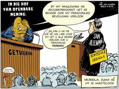 """ZUMA tydens Robinson Regstreeks 5/5/2013 - """"Ek is magteloos oor die 'sekuriteitsmaatreels' by Nkandla""""... Beeld : Spotprent: 7 Maart 2014"""