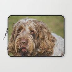 Brown Roan Italian Spinone Dog Head Shot Laptop Sleeve