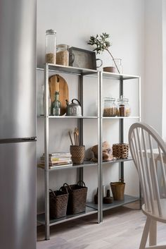 Dining Storage Ideas with Simple Design Dining Rooms Dress up your dining room with these inspirational dining storage ideas. We can install chic dining storage even in a simple design for your dining ap. Decor, Home Kitchens, Kitchen Cabinet Shelves, Interior, Home Decor, Dining Storage, House Interior, Apartment Decor, Home Deco