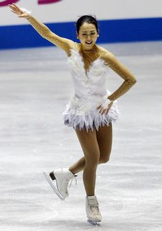 Mao Asada of Japan performs during the ladies free event of the ISU World Team Trophy in Figure Skating in Tokyo, Saturday, April 13, 2013.
