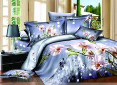 Dreamlike Pink Floral and Butterfly 4 Piece Bedding Sets with Printing - beddinginn.com