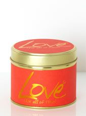 Love Various Fragranced Candle Tin