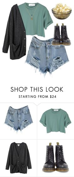 """ahhhhhhh"" by chanelandcoke ❤ liked on Polyvore featuring StyleNanda, Monki and Dr. Martens"