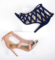 Reach new heights with a new pair of summer heels in navy or neutral