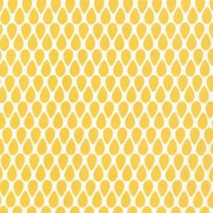coupon de tissu pour loisirs créatifs et patchwork - Motif Graphique - Goutte d'eau jaune paille sur fond naturel : Tissus pour Loisirs créatifs par diypapiertissu