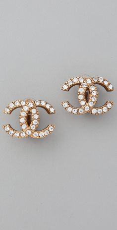 WGACA Vintage Vintage Chanel CC Crystal Earrings | SHOPBOP