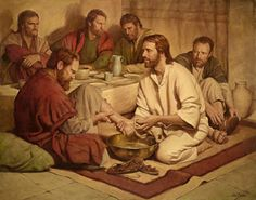painting of jesus washing peter's feet | painting of Jesus washing feet at Last Supper; from http://www ...