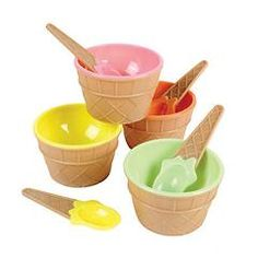 Ice Cream Dishes (6 per Pack), Perfect your Ice Cream Parties or for serving sweet treats!