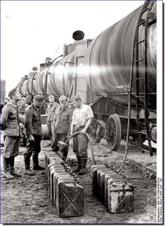 A German supply train in Russia. Supply is crucial in any military action. As the Germans moved deeper into Russia their supply-lines got stretched.