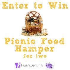 Enter to #Win a Picnic Food Hamper for Two! Food Hampers, Purple Pumpkin, Deli, Giveaways, Competition, Picnic, Joy, Posts, Random